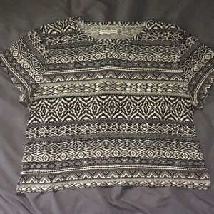 Patterned American Eagle crop top